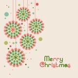 Frohe Weihnachten celebrationg Gruß- oder Einladungskarte deisgn lizenzfreie abbildung
