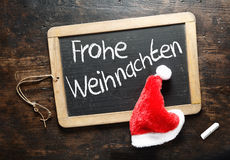 Frohe Weihnachten Christmas greeting Stock Image
