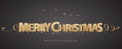 frohe Weihnachten 3d Lizenzfreies Stockfoto