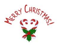 Frohe Weihnachten der Karte Stockfotografie