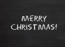 Frohe Weihnachten in der Kreide Stockfotografie