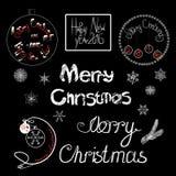 Frohe Weihnachten der Weinlese und glückliches neues Jahr Stockbilder