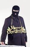 Frohe Weihnachten des Gangsters Stockfoto