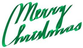 Frohe Weihnachten des Textes vom Farbband Stockfoto