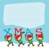 Frohe Weihnachten Elf´s lizenzfreies stockbild