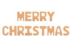Frohe Weihnachten Farborange Lizenzfreies Stockbild