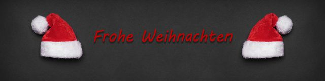 Frohe Weihnachten german christmas greeting banner or header Royalty Free Stock Photo