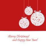 Frohe Weihnachten, glückliches neues Jahr Lizenzfreie Stockbilder