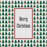 Frohe Weihnachten grün mit Kartenbaumhintergrund Auch im corel abgehobenen Betrag vektor abbildung