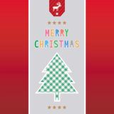 Frohe Weihnachten Grußcard41 Stockbild