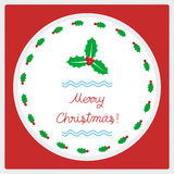 Frohe Weihnachten Grußcard52 Lizenzfreies Stockbild