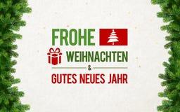 Frohe Weihnachten Gru�karte Card Stock Image