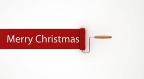 Frohe Weihnachten im Rollen-Maler Lizenzfreie Stockfotos