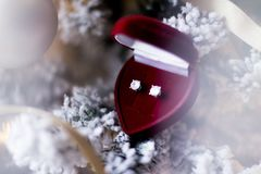 Frohe Weihnachten jeder - Feriengeschenk für sie stockfoto
