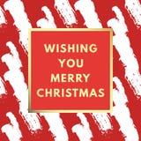 Frohe Weihnachten kreativ, minimale Wintergrußkarte lizenzfreie abbildung