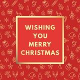 Frohe Weihnachten kreativ, minimale Wintergrußkarte stock abbildung