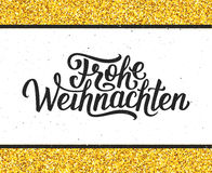 Frohe Weihnachten lettering. Merry Christmas card Stock Photography
