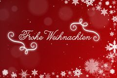Frohe Weihnachten Merry Christmas on card Royalty Free Stock Image