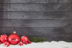 Frohe Weihnachten Merry Christmas greeting card. With blank space for text royalty free stock photography