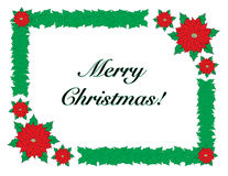 Frohe Weihnachten mit Grenzrahmen lizenzfreie stockfotos