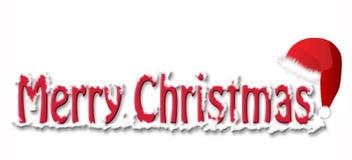 Frohe Weihnachten mit Hut Lizenzfreie Stockfotografie