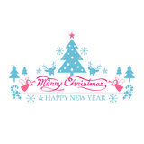 Frohe Weihnachten mit Ikonen verzieren Lizenzfreie Stockbilder