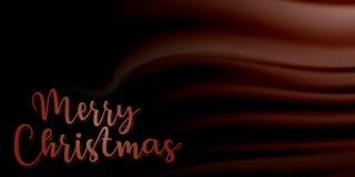 Frohe Weihnachten mit schönem Satinbeschaffenheitshintergrund EPS10 vektor abbildung