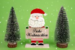 Frohe Weihnachten mit Schnee lizenzfreies stockbild