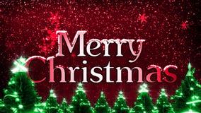 Frohe Weihnachten mit Schneeflocken (Animations-Schleife) stock abbildung