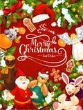 Frohe Weihnachten oys und Geschenke, Vektor vektor abbildung