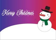 Frohe Weihnachten Schneemann stockbild