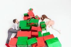Frohe Weihnachten 2016 Schwärzen Sie Freitag Nette Kleinkinder Stockbild