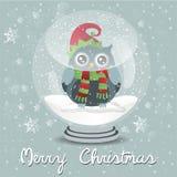 Frohe Weihnachten snowball Lizenzfreie Stockfotografie