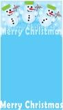 Frohe Weihnachten - Snowmans Stockfoto