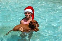 Frohe Weihnachten am Sommer Lizenzfreie Stockfotos