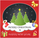 Frohe Weihnachten u Stockfoto
