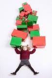 Frohe Weihnachten 2016 und Black Friday Kleines Mädchen, Cristmas-Geschenke Stockfoto