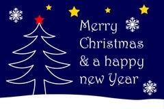 Frohe Weihnachten und ein glückliches neues Jahr Lizenzfreies Stockbild