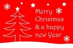 Frohe Weihnachten und ein glückliches neues Jahr Stockfotografie
