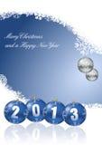 Frohe Weihnachten und ein glückliches neues Jahr 2013 stock abbildung