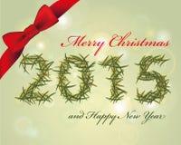 Frohe Weihnachten und glückliche Jahrkarte Stockfotografie