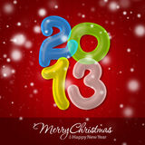Frohe Weihnachten und glückliches neues Jahr 2013 Stockbild