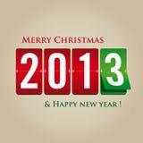 Frohe Weihnachten und glückliches neues Jahr 2013 mechanisch lizenzfreie abbildung