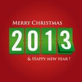 Frohe Weihnachten und glückliches neues Jahr 2013 mechanisch vektor abbildung