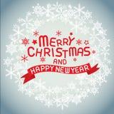 Frohe Weihnachten und guten Rutsch ins Neue Jahr Lizenzfreie Stockbilder