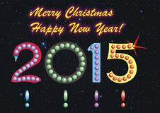Frohe Weihnachten und guten Rutsch ins Neue Jahr! Stockfotografie