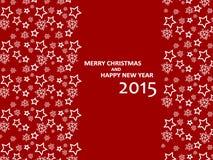 Frohe Weihnachten und guten Rutsch ins Neue Jahr 2015 lizenzfreies stockbild