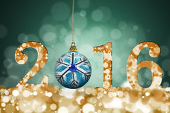 Frohe Weihnachten und guten Rutsch ins Neue Jahr 2016 Stockbild
