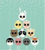 Frohe Weihnachten und guten Rutsch ins Neue Jahr lizenzfreie abbildung