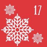 Frohe Weihnachten und guten Rutsch ins Neue Jahr Buntes Weihnachten Advent Calendar Count-down zu Weihnachten 17 Lizenzfreies Stockfoto